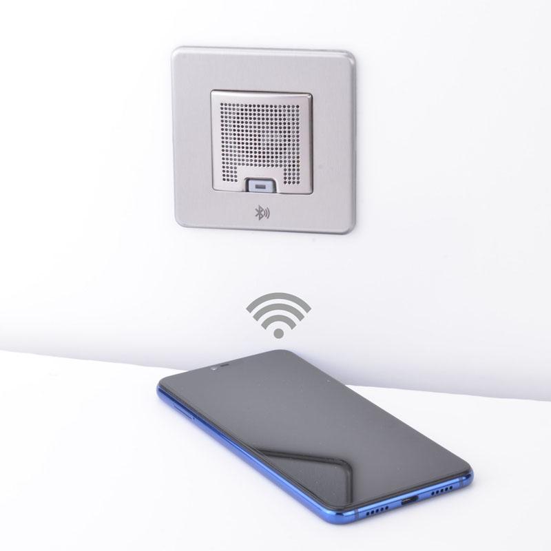 Slimline Screwless 1 gang Bluetooth audio speaker (TWS Function)