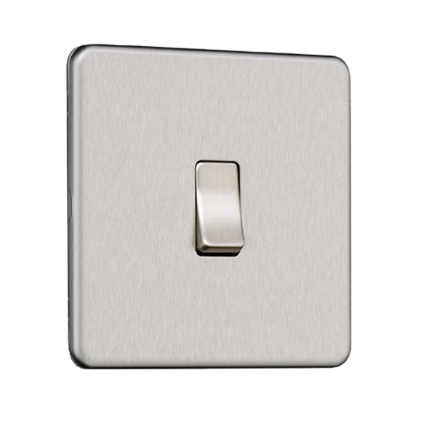 Flat Plate Screwless 1G Light Switch