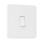 Flat Plate Screwless 1G DP Switched Single Socket