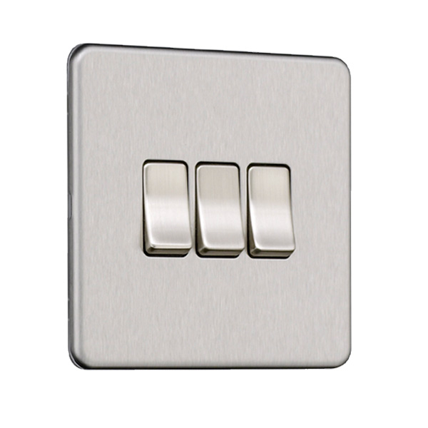 Flat Plate Screwless 3G Light Switch