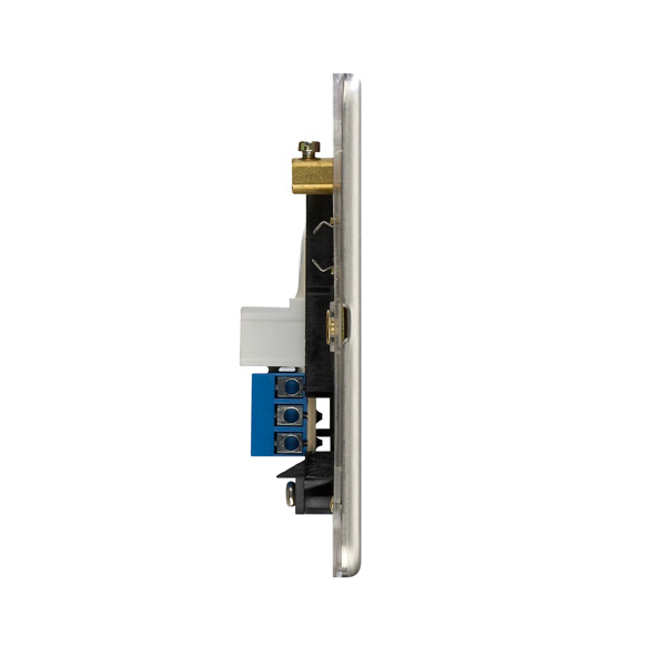 Flat Plate Screwless 1G Single Slave Telephone Socket