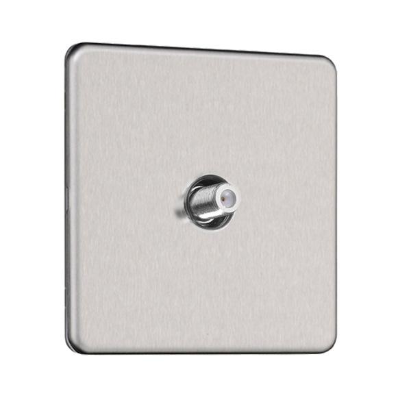 Flat Plate Screwless Dual Voltage Shaver Socket 115V/230V