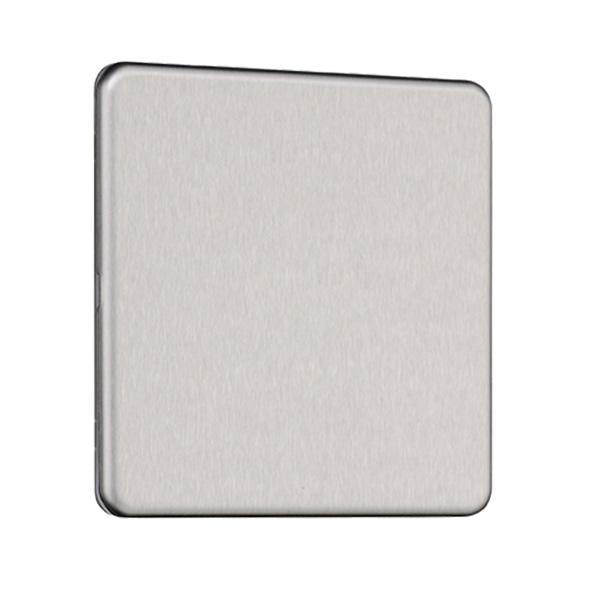 Flat Plate Screwless 1G Blank Plate