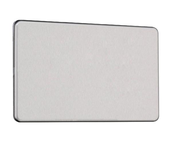Flat Plate Screwless 2G Blank Plate