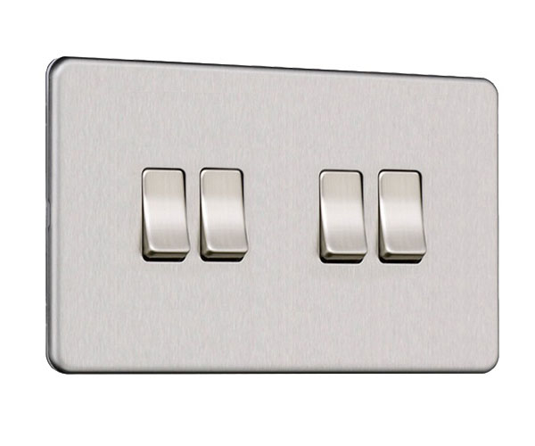 Flat Plate Screwless 4G Light Switch