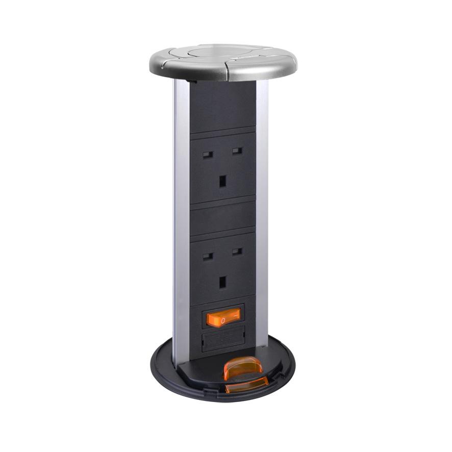 Waterproof – Pop up socket with 2 Socket