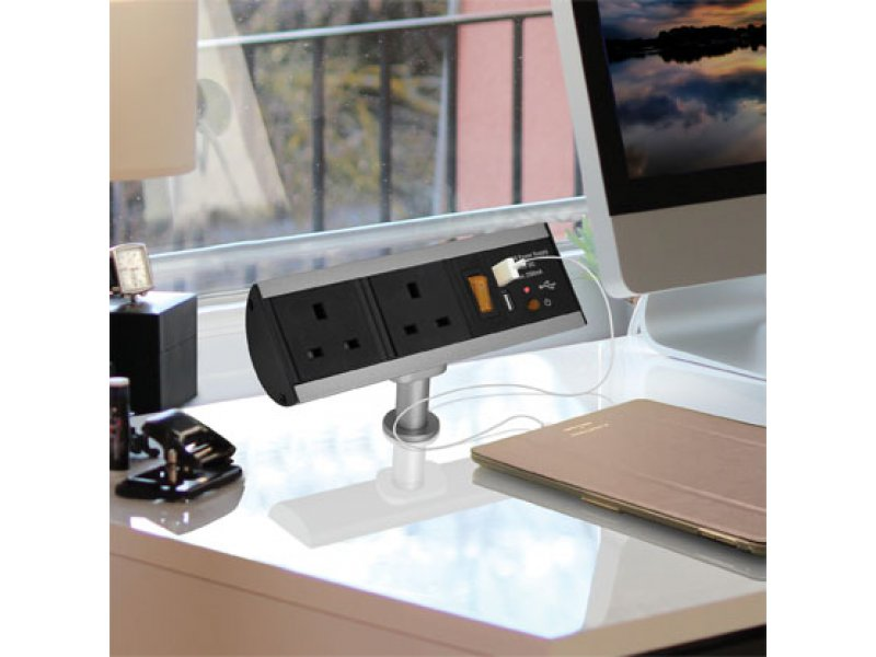 Stand Alone USB Power Station – with 2 socket and 2 USB charger