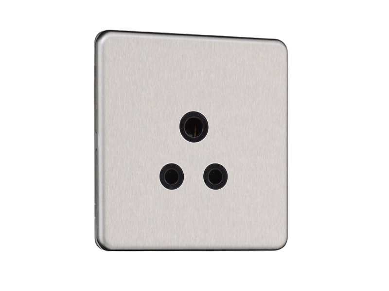 Flat Plate Screwless 5 AMP Socket Outlet