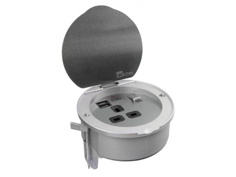 Flat Plate Screwless 5 AMP Socket Outlet