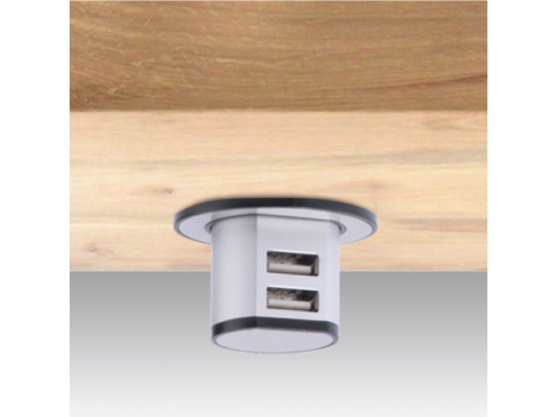 Miniature Pop-Up Dual USB Charger