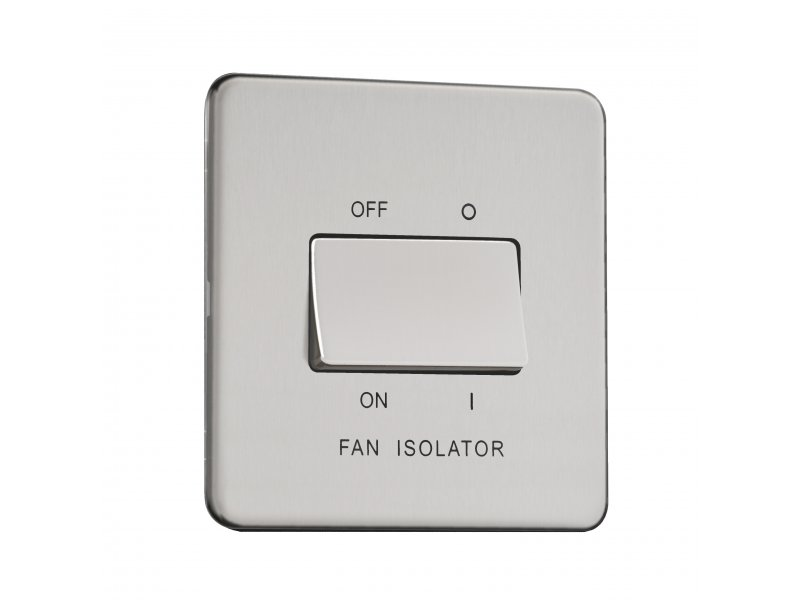 Flat Plate Screwless 10AX Fan Isolator Switch