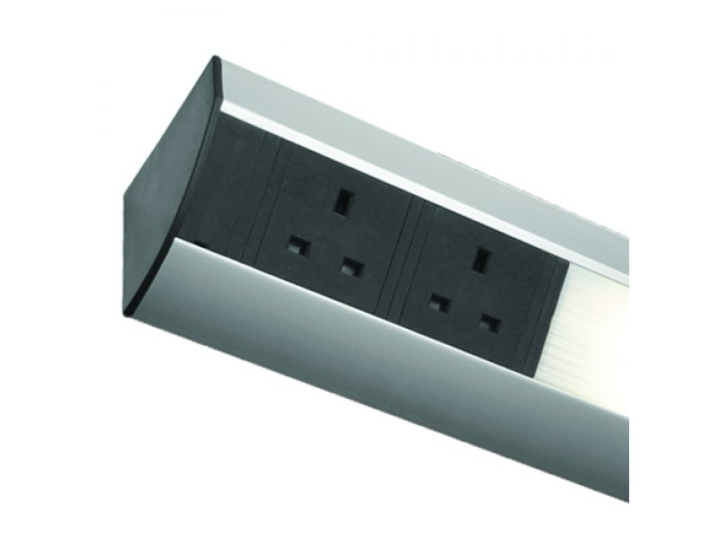 Power Station  (Under Cabinet) – with T5 14W Fluorescent Light, 3 Socket & 2 USB charger