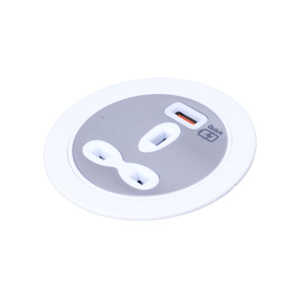Desktop Power Unit – 13A Socket Outlet with USB-A Outlet