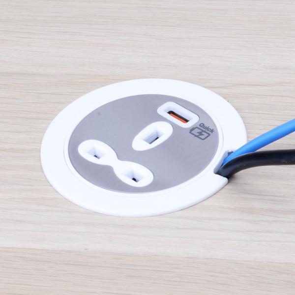 Desktop Power Unit -13A Socket Outlet with USB-A Outlet