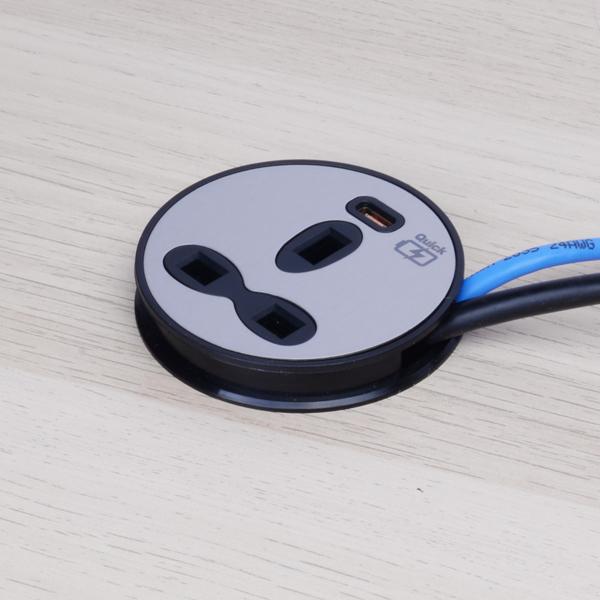 Desktop Power Unit – 13A Socket Outlet with USB-C Outlet