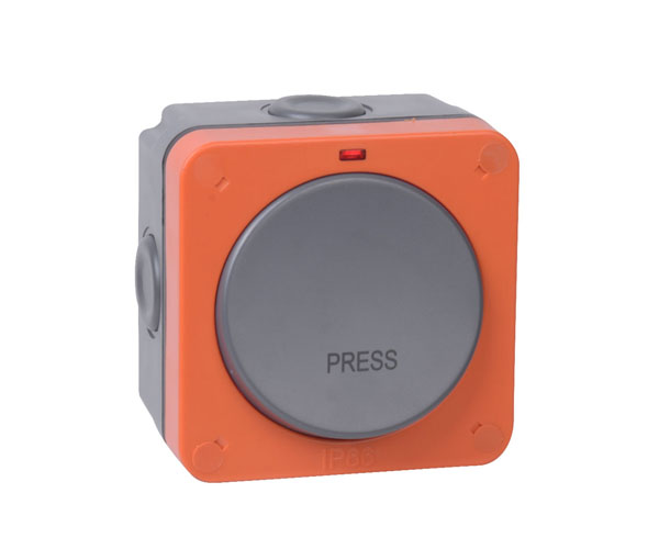 """Weather Proof 20AX Retractive Switch (printed """"PRESS"""")"""